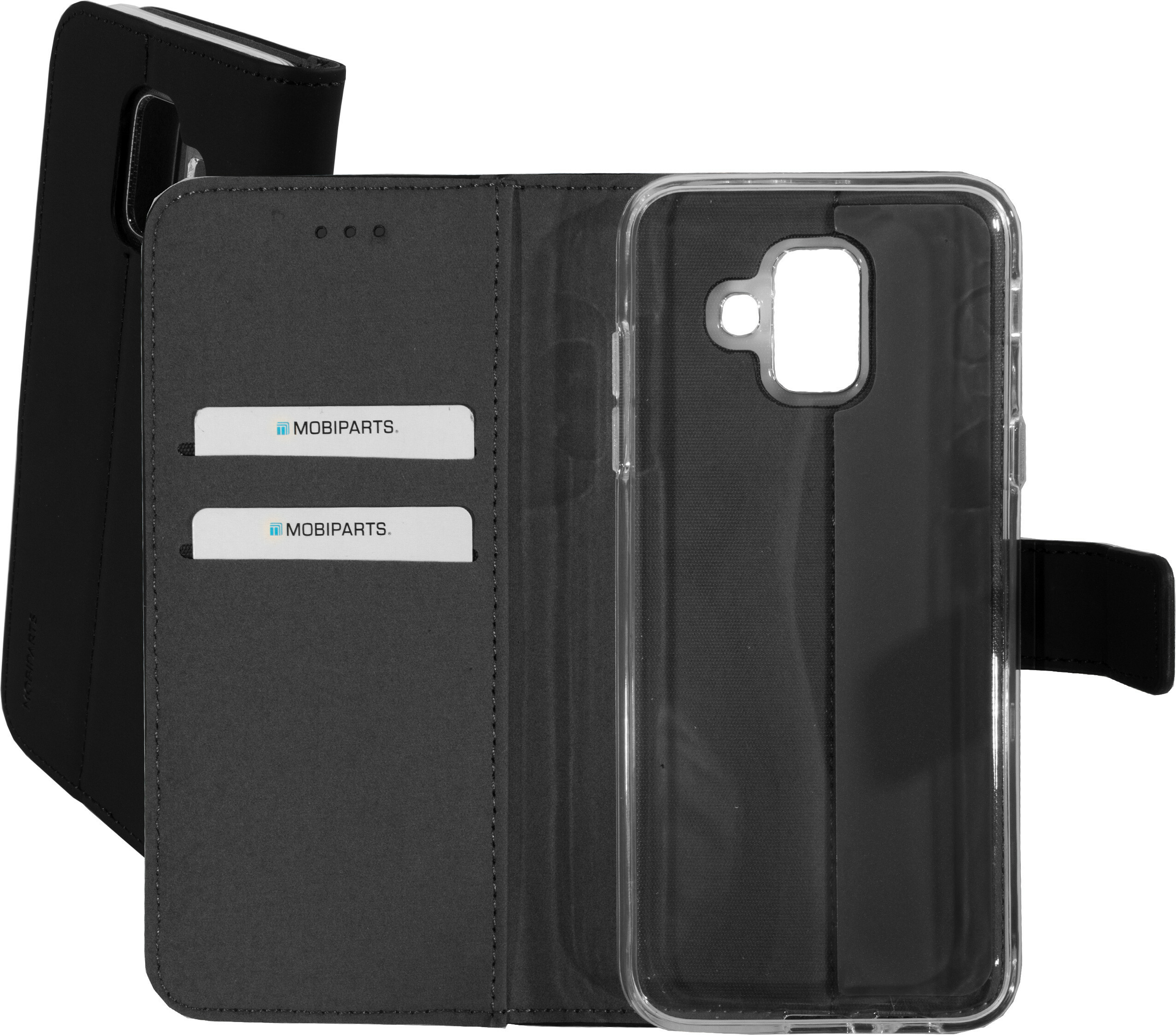 Mobiparts Premium Wallet TPU Case Samsung Galaxy A6 (2018) Black
