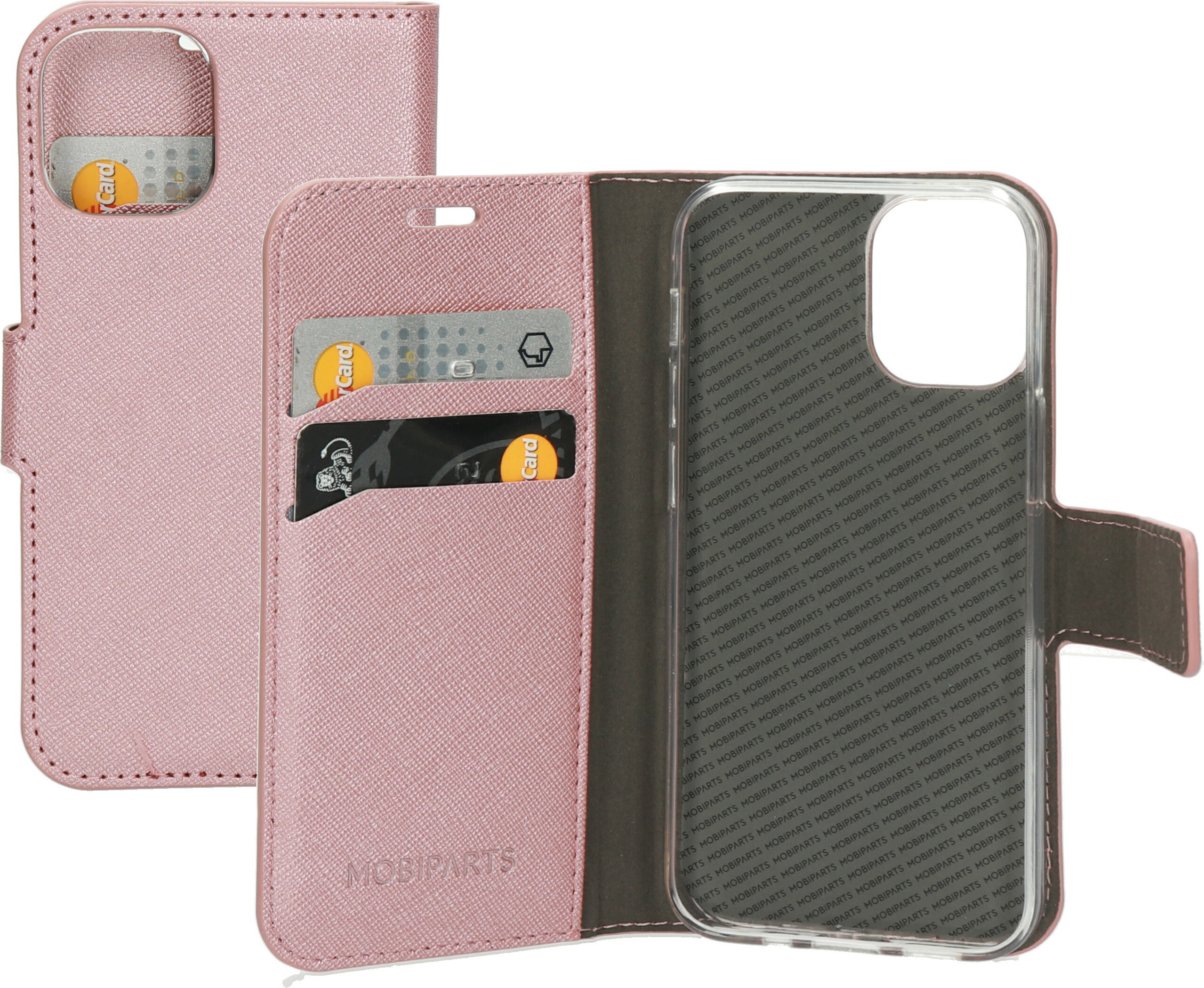 Mobiparts Saffiano Wallet Case Apple iPhone 12 Mini Pink