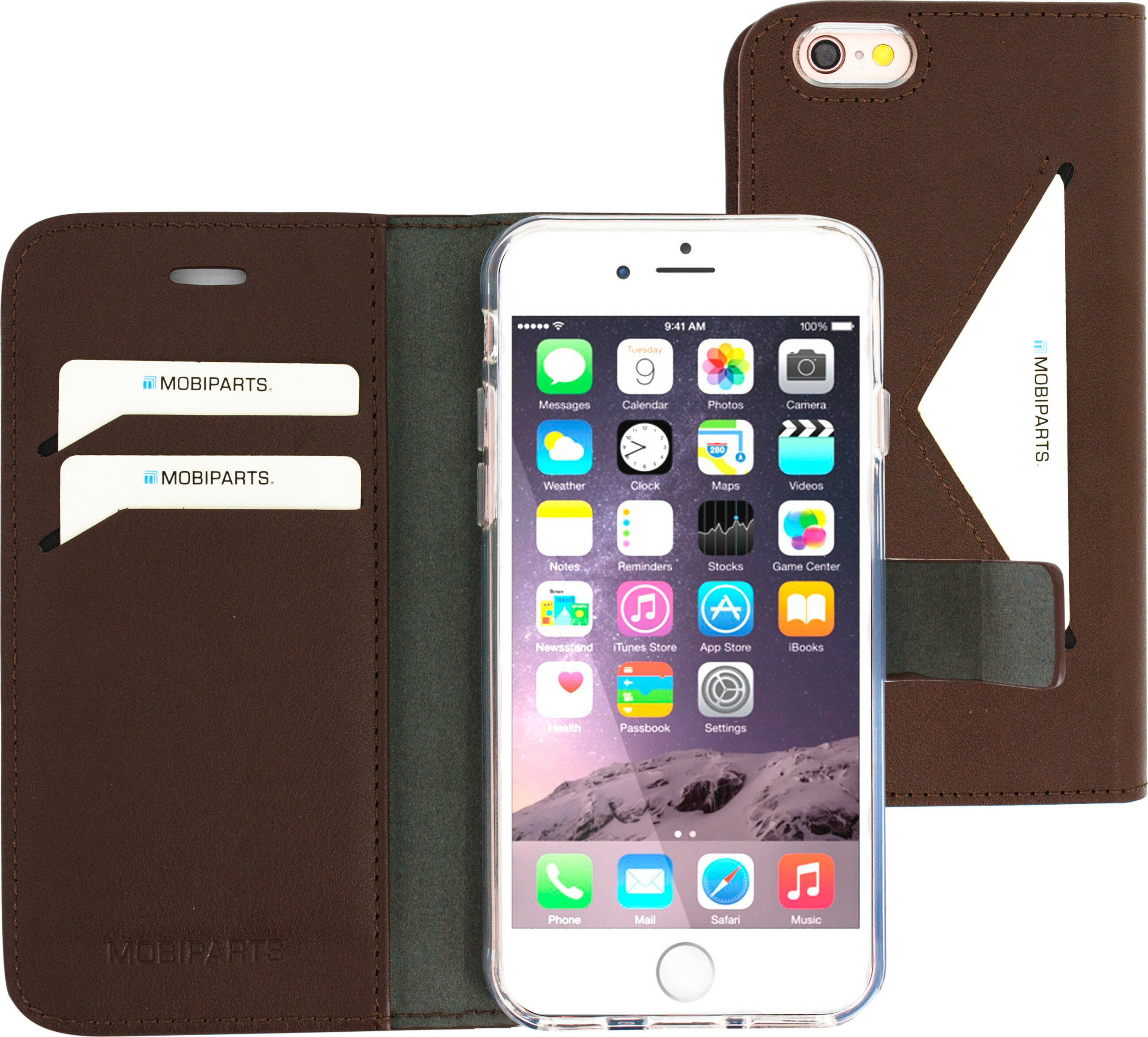 Mobiparts Classic Wallet Case Apple iPhone 6/6S Brown