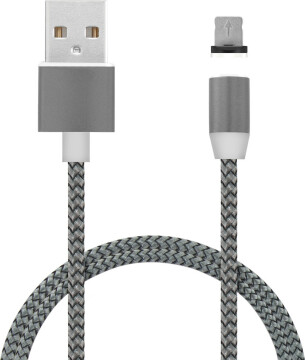 Mobiparts Magnetic Apple Lightning to USB Cable 1.5A Dark Grey 1M