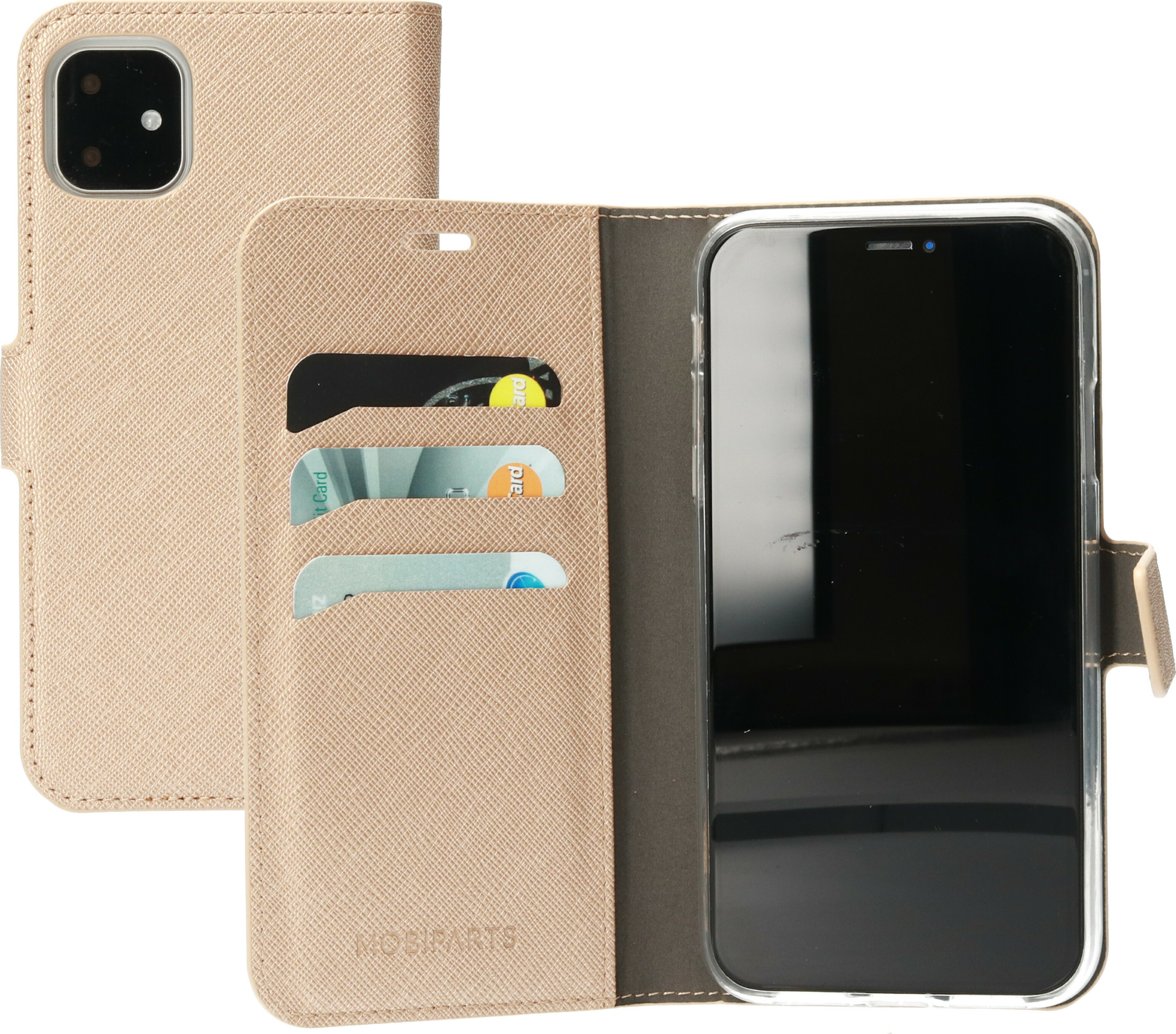 Mobiparts Saffiano Wallet Case Apple iPhone 11 Copper