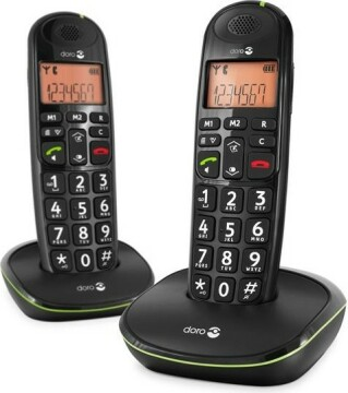Doro PhoneEasy 100w Duo Dect Black