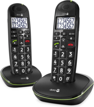 Doro PhoneEasy 110 Duo Dect Black