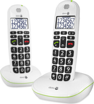 Doro PhoneEasy 110 Duo Dect White