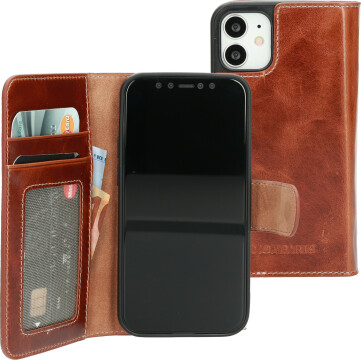 Mobiparts Excellent Wallet Case 2.0 Apple iPhone 12 Mini Oaked Cognac
