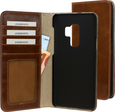 Mobiparts Excellent Wallet Case Samsung Galaxy S9 Plus Oaked Cognac