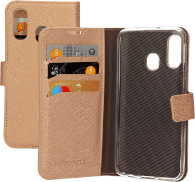 Mobiparts Saffiano Wallet Case Samsung Galaxy A40 (2019) Copper