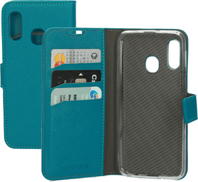 Mobiparts Saffiano Wallet Case Samsung Galaxy A20e Turquoise