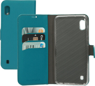Mobiparts Saffiano Wallet Case Samsung Galaxy A10 Turquoise