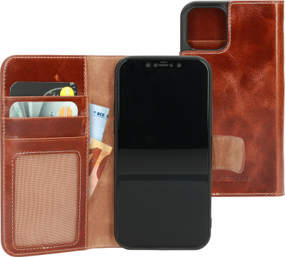 Mobiparts Excellent Wallet Case 2.0 Apple iPhone 12/12 Pro Oaked Cognac