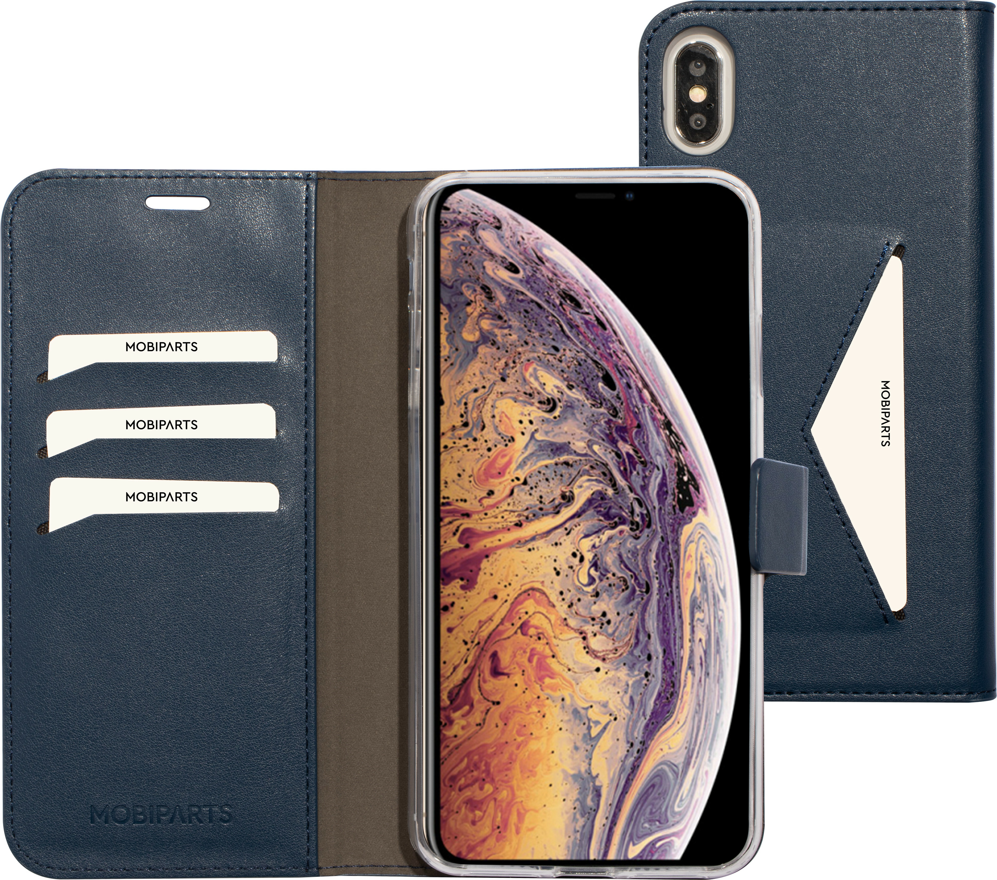 Mobiparts Classic Wallet Case Apple iPhone XS Max Blue