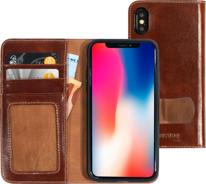 Mobiparts Excellent Wallet Case 2.0 Apple iPhone X/XS Oaked Cognac
