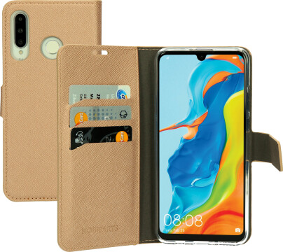 Mobiparts Saffiano Wallet Case Huawei P30 Lite Copper