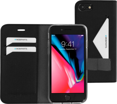 Mobiparts Classic Wallet Case Apple iPhone 7/8/SE (2020) Black