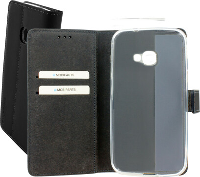 Mobiparts Premium Wallet TPU Case Samsung Galaxy Xcover 4 Black