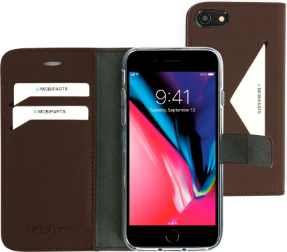 Mobiparts Classic Wallet Case Apple iPhone 7/8 Brown