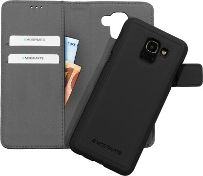Mobiparts 2 in 1 Premium Wallet Case Samsung Galaxy J6 (2018) Black