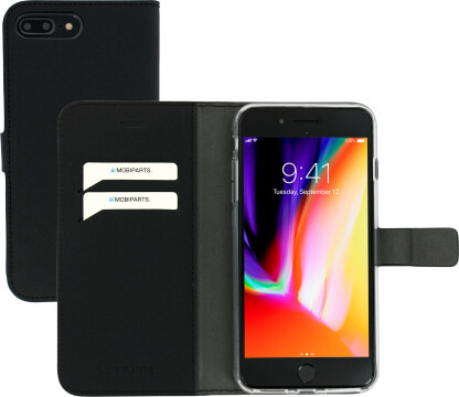 Mobiparts Saffiano Wallet Case Apple iPhone 7 Plus/ 8 Plus Black