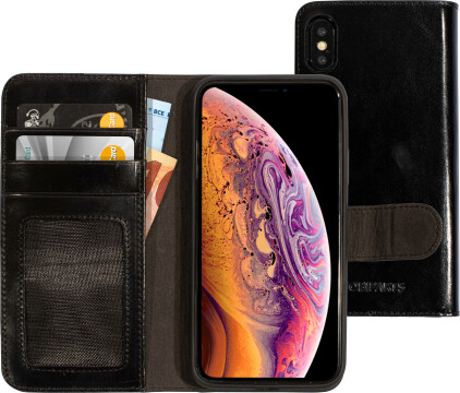 Mobiparts Excellent Wallet Case 2.0 Apple iPhone X/XS Jade Black