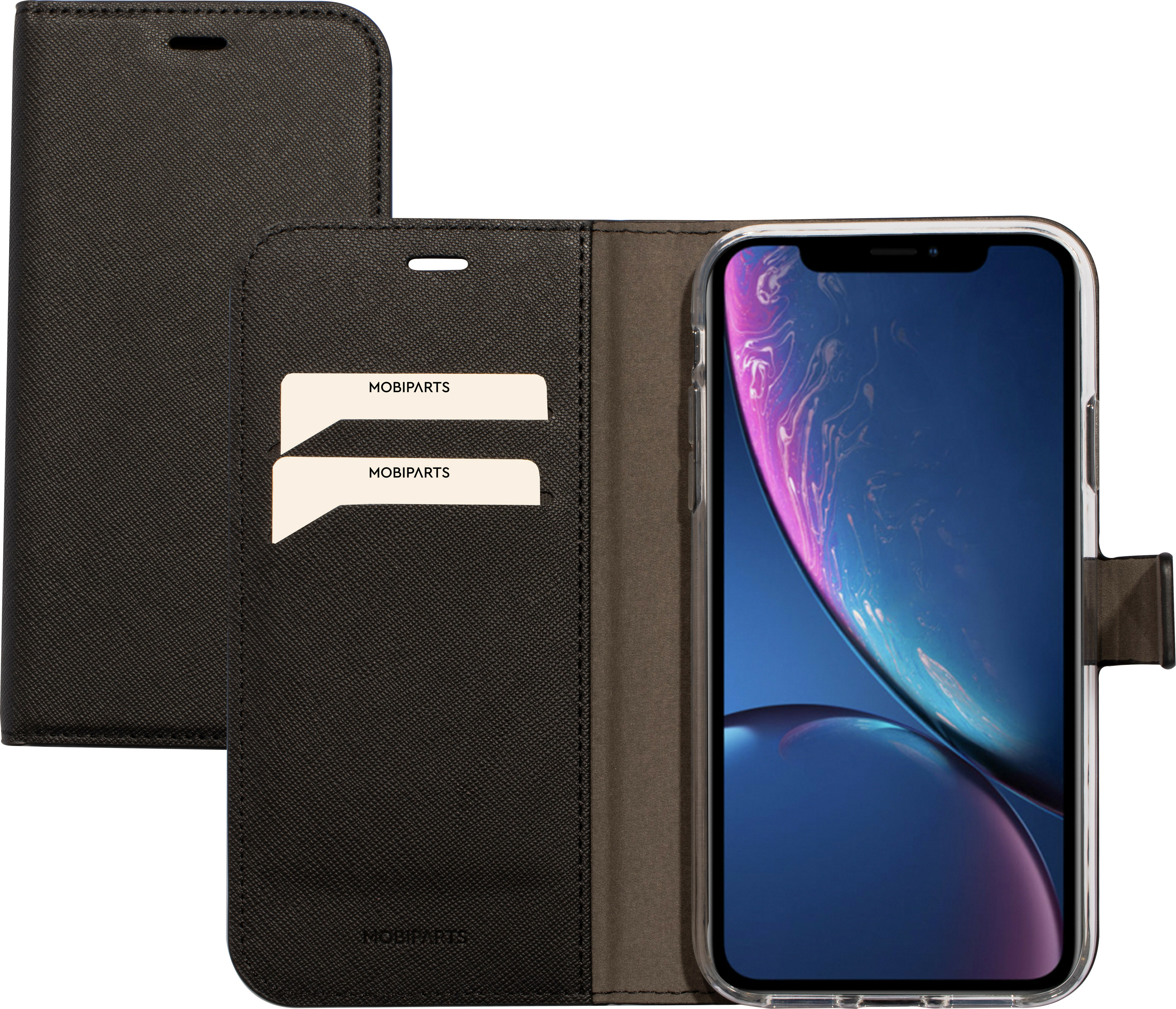 Mobiparts Saffiano Wallet Case Apple iPhone XR Black