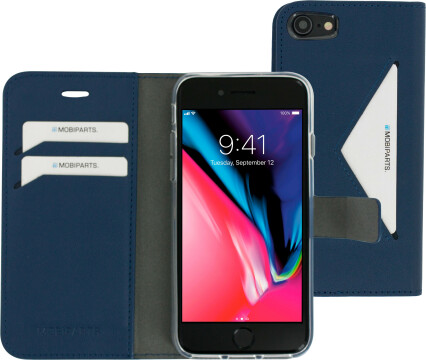 Mobiparts Classic Wallet Case Apple iPhone 7/8 Blue