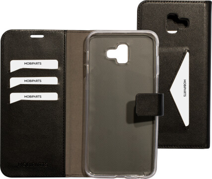 Mobiparts Classic Wallet Case Samsung Galaxy J6 Plus (2018) Black