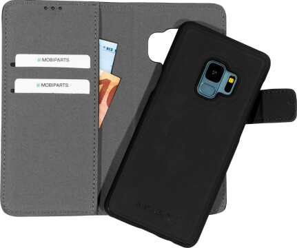 Mobiparts 2 in 1 Premium Wallet Case Samsung Galaxy S9 Black
