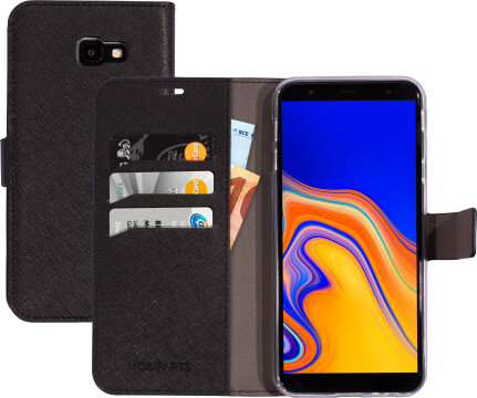 Mobiparts Saffiano Wallet Case Samsung Galaxy J4 Plus (2018) Black
