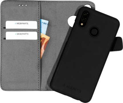 Mobiparts 2 in 1 Premium Wallet Case Huawei P20 Lite Black