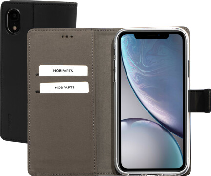Mobiparts Premium Wallet TPU Case Apple iPhone XR Black