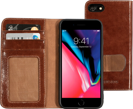 Mobiparts Excellent Wallet Case 2.0 Apple iPhone 7/8 Oaked Cognac