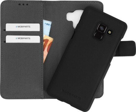 Mobiparts 2 in 1 Premium Wallet Case Samsung Galaxy A8 (2018) Black