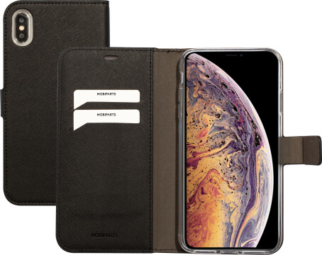 Mobiparts Saffiano Wallet Case Apple iPhone XS Max Black