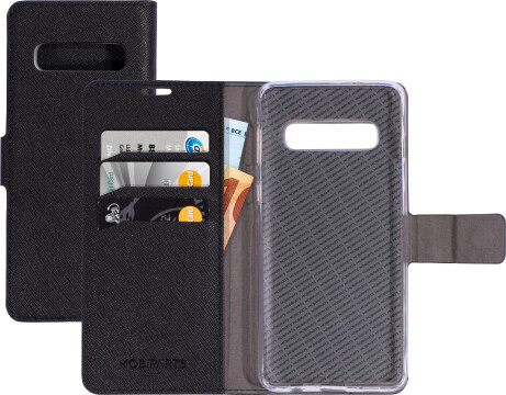 Mobiparts Saffiano Wallet Case Samsung Galaxy S10 Black