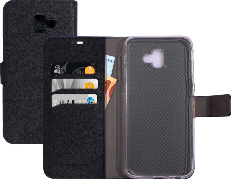 Mobiparts Saffiano Wallet Case Samsung Galaxy J6 Plus (2018) Black