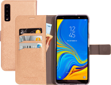 Mobiparts Saffiano Wallet Case Samsung Galaxy A7 (2018) Copper