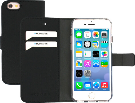 Mobiparts Saffiano Wallet Case Apple iPhone 6/6S Black