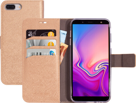 Mobiparts Saffiano Wallet Case Samsung Galaxy J6 (2018) Copper