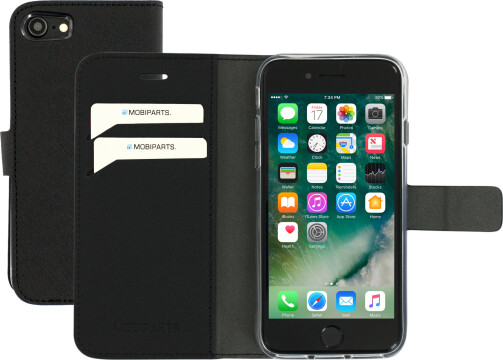 Mobiparts Saffiano Wallet Case Apple iPhone 7/8 Black