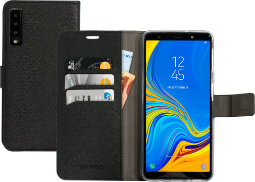 Mobiparts Saffiano Wallet Case Samsung Galaxy A7 (2018) Black