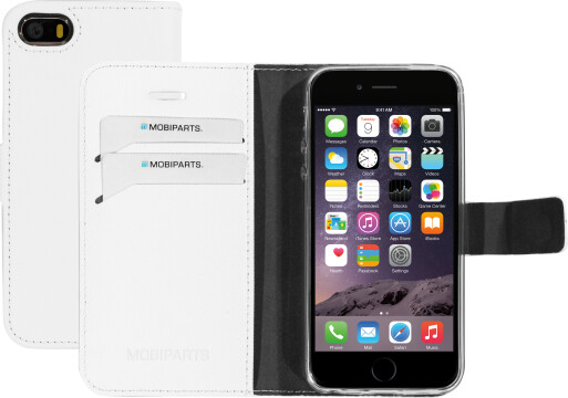 Mobiparts Saffiano Wallet Case Apple iPhone 5/5S/SE White