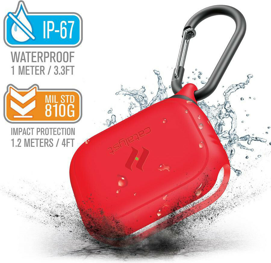 Catalyst Waterproof Case Apple Airpods Pro Flame Red