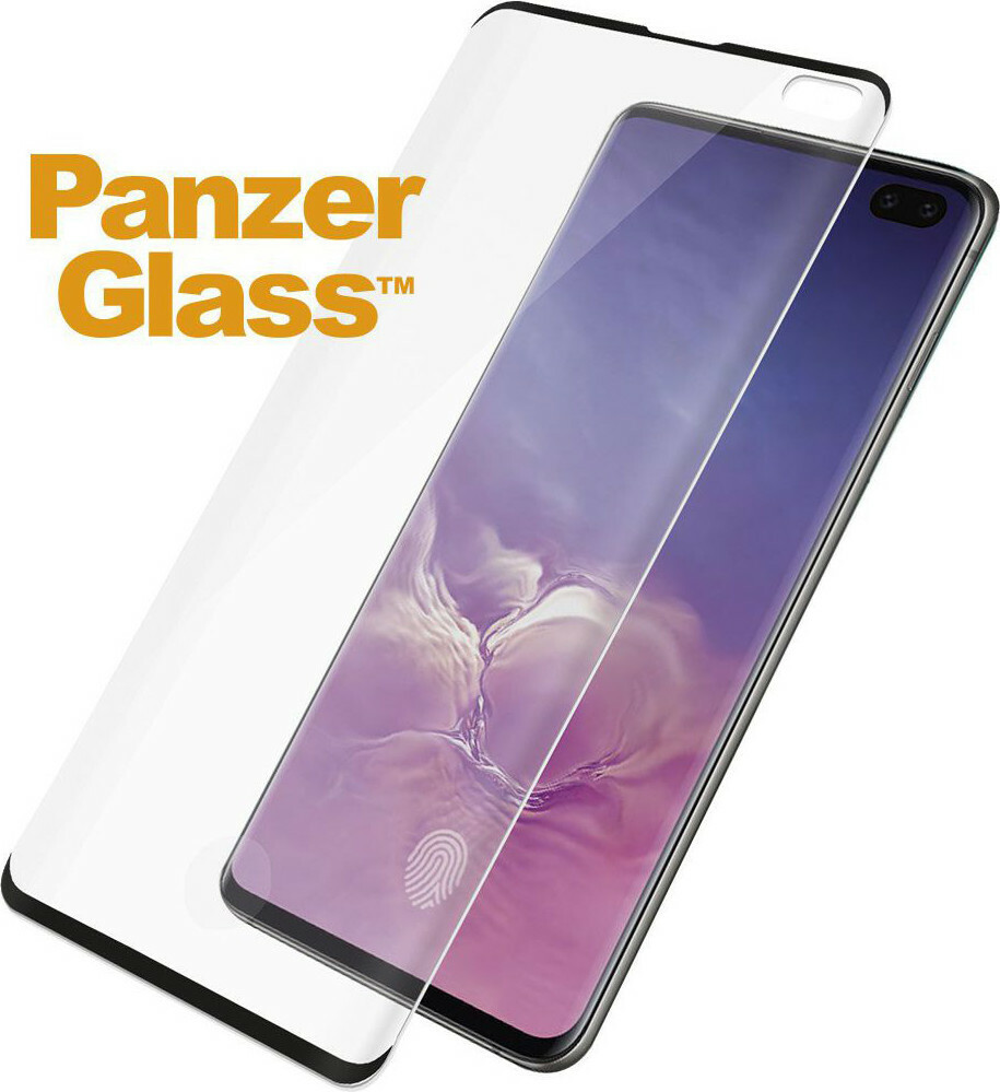 PanzerGlass Samsung Galaxy S10 Plus FP Black Case Friendly Super+ Glass