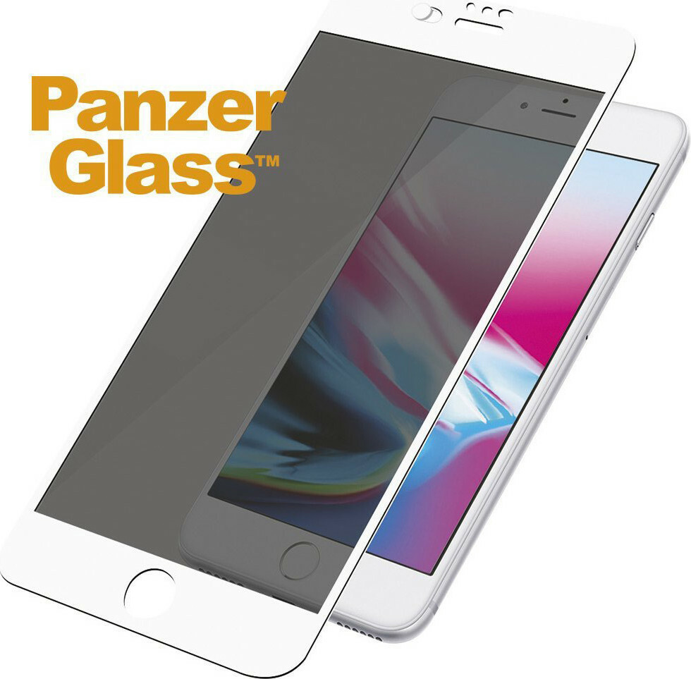PanzerGlass Apple iPhone 6/6S/7/8/SE (2020) CF CamSlider White Privacy Glass